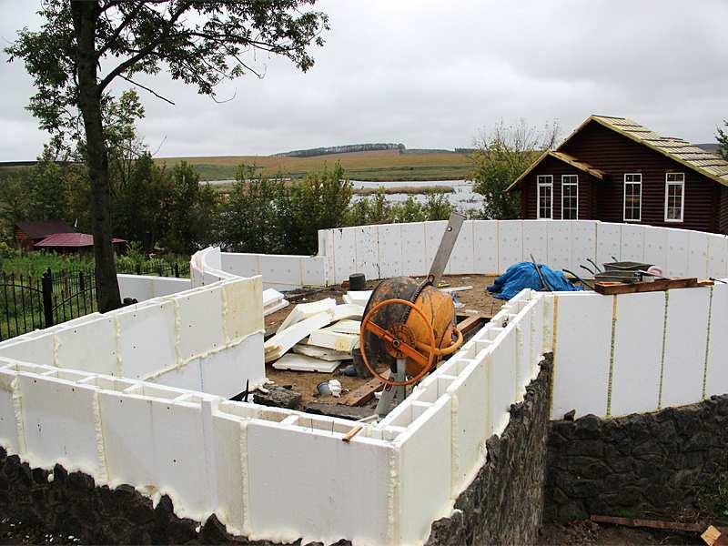 Строительство дома своими руками из полистирола