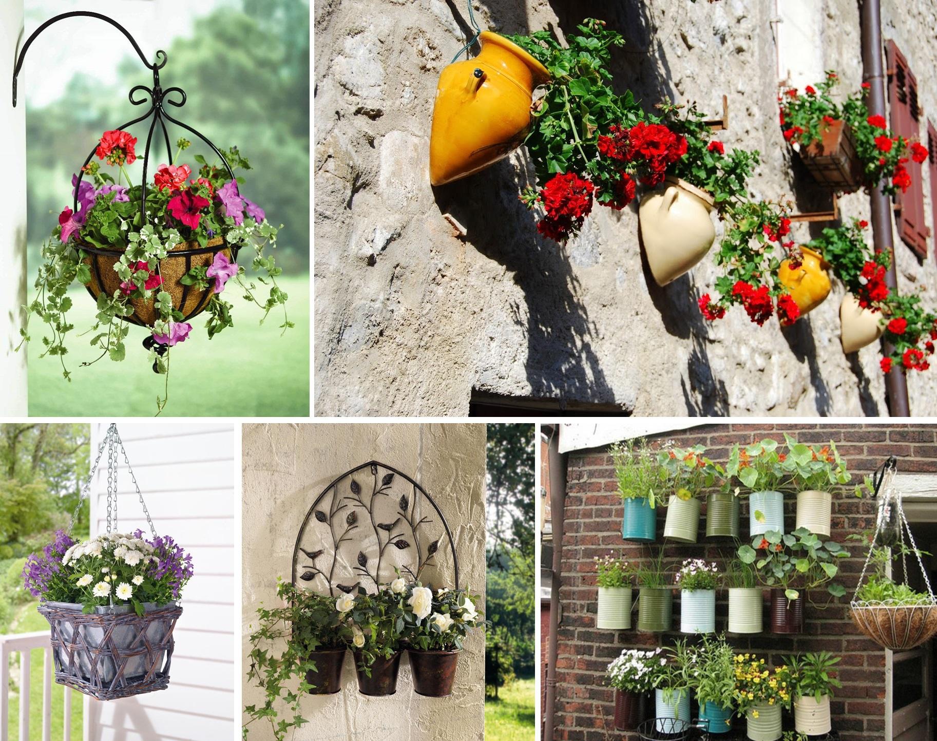 Лестница для цветов на даче