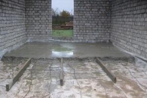 Заливка пола в гараже бетоном своими руками пропорции 91