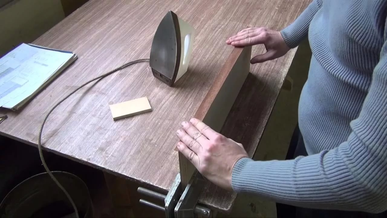 Поклейка шпона своими руками видеоурок 82