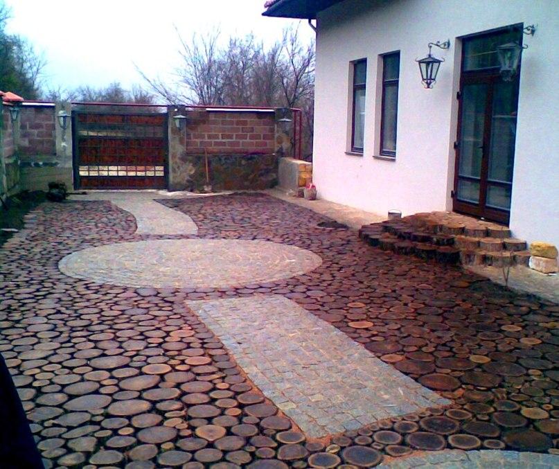 Как сделать деревянные дорожки в саду и на даче