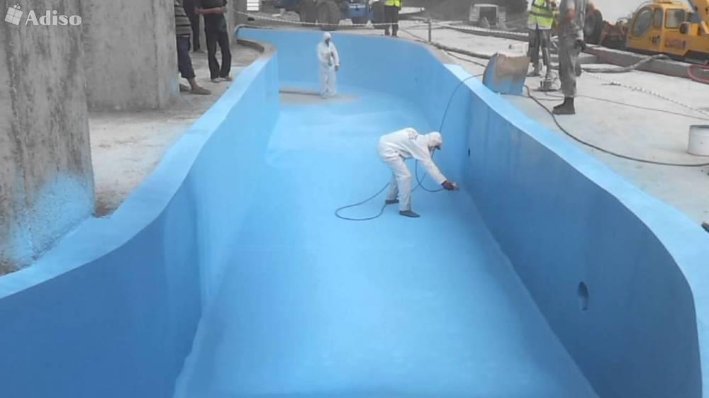 Гидроизоляция бассейна жидким стеклом видео нужно ли полировать декоративный наливной пол